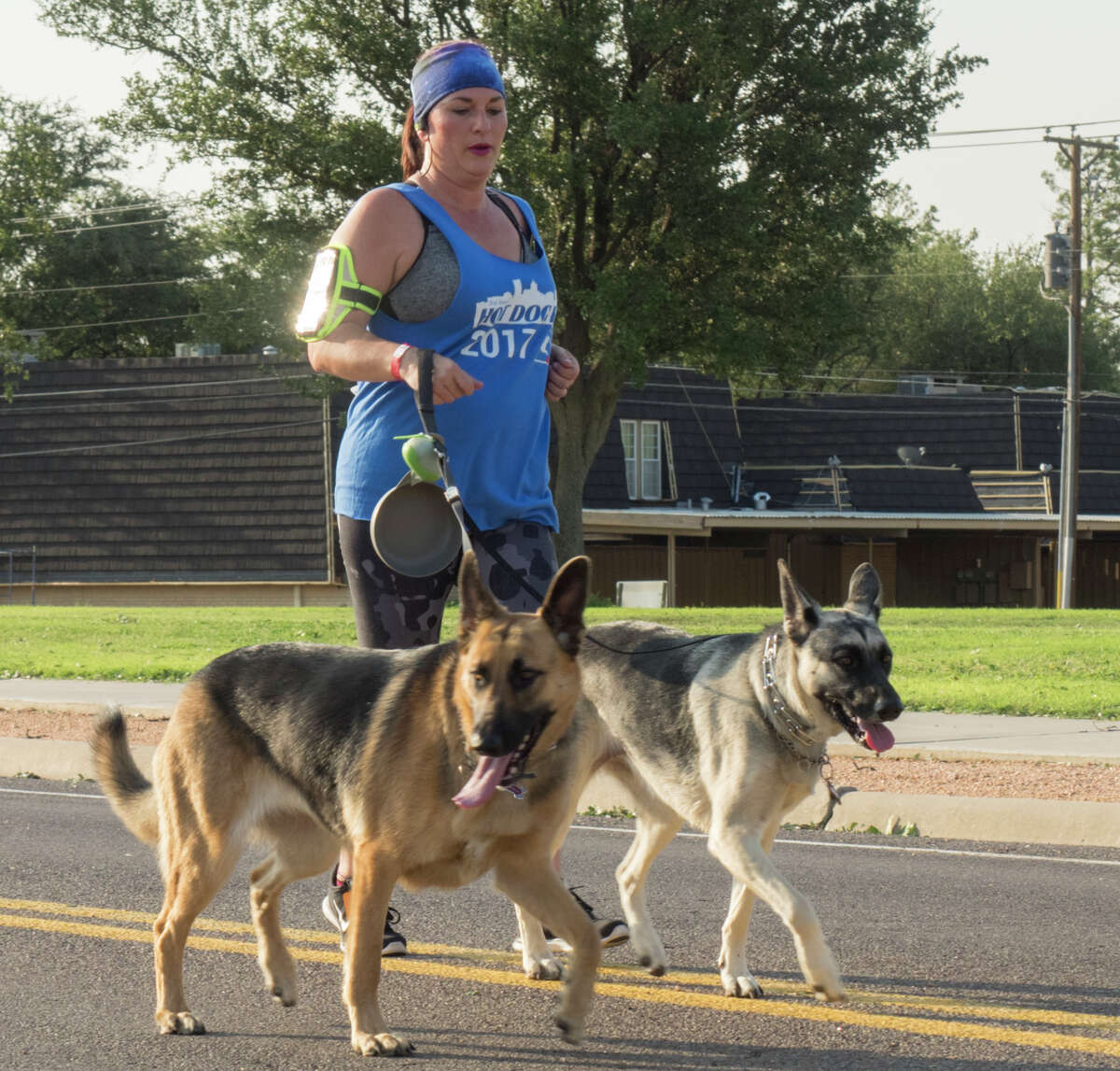 Runners make their way around the Midland College circle during the 2017 5K and 1K fundraiser for the Midland Humane Coalition. Tim Fischer/Reporter-Telegram