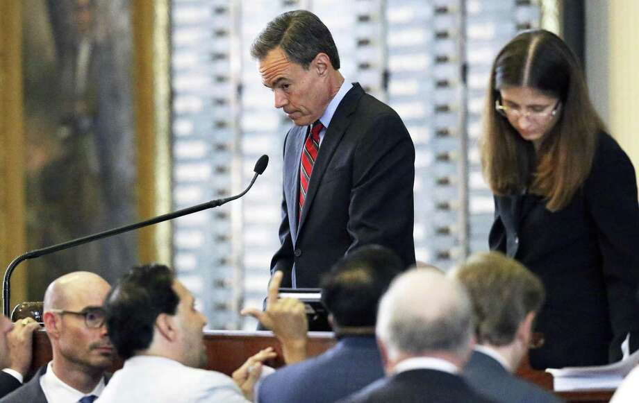 House Speaker Joe Straus hears a point of order made which caused a postponement of property tax legislation  on the floor of the House at the Texas Capitol on May 18, 2017. Photo: Tom Reel, Staff / San Antonio Express-News / 2017 SAN ANTONIO EXPRESS-NEWS