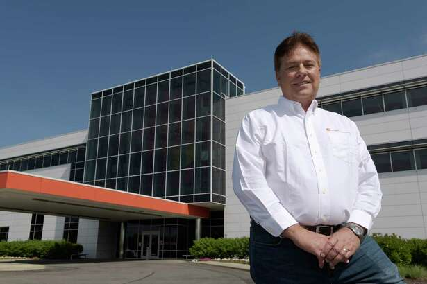 Preston MCDaniels, senior director of facilities construction at GlobalFoundries poses for a photo outside of the GlobalFoundries Fab 8 on Thursday, June 15, 2017, in Malta, N.Y.  (Paul Buckowski / Times Union)