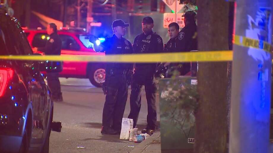 The scene of a fatal knife attack in lower Queen Anne early Friday, June 23, 2017. Photo: KOMO NEWS