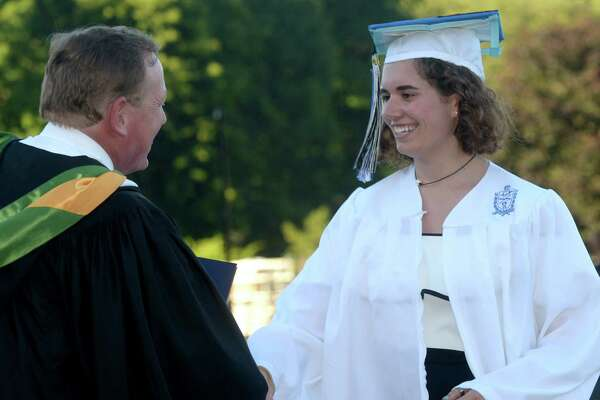 Wilton High School Class of 2017 commencement exercises Saturday, June 24, 2017, at the school's Fujitani Field in Wilton, Conn.