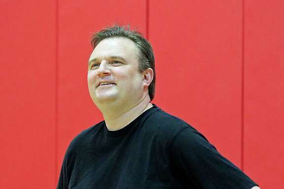 Houston Rockets General Manager Daryl Morey during the Houston Rockets practice at the Toyota Center Friday, May 1, 2015, in Houston. ( James Nielsen / Houston Chronicle )