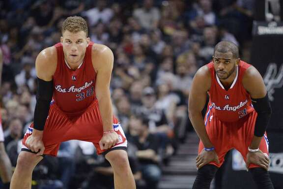The Clippers' Blake Griffin, left, and Chris Paul are two of the hot commodities on the NBA free-agent market. Either would be a good fit in Rockets coach Mike D'Antoni's dynamic offense.