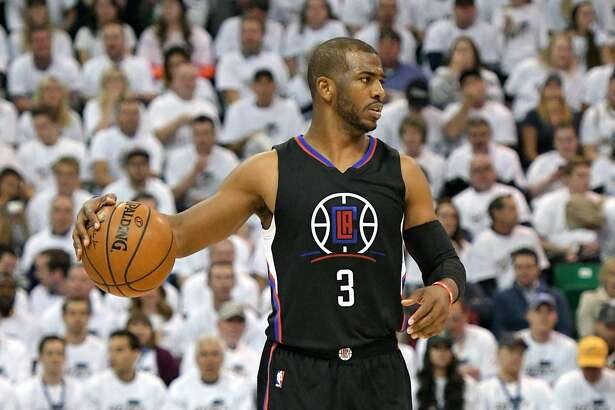 SALT LAKE CITY, UT - APRIL 28: Chris Paul #3 of the Los Angeles Clippers controls the ball in the second half against the Utah Jazz in Game Six of the Western Conference Quarterfinals during the 2017 NBA Playoffs at Vivint Smart Home Arena on April 28, 2017 in Salt Lake City, Utah. NOTE TO USER: User expressly acknowledges and agrees that, by downloading and or using this photograph, User is consenting to the terms and conditions of the Getty Images License Agreement. (Photo by Gene Sweeney Jr/Getty Images)