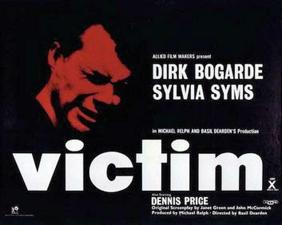 """Victim""Release Year: 1961Starring: Dirk Bogarde, Sylvia Syms, and Dennis PriceQuick Facts: Controversy surrounded this groundbreaking British film. ""Victim"" was the first English language film to use the word, ""homosexual"" and was considered an open protest against Britain's laws on homosexuality. Being gay was essentially illegal in Britain until 1967. Initially, in the U.S., the Motion Picture Production Code denied ""Victim's"" seal of approval for release. Keep clicking for our list of the most iconic films with LGBT themes and leads.  Photo: Film Poster For ""Victim"""