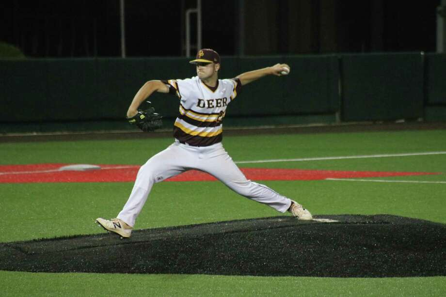Southpaw Peyton Sherlin garnered the district MVP honor by the coaches after going 6-0 with an ERA of 0.00. It marks the third straight season that a Deer Park player has been named MVP. Photo: Robert Avery
