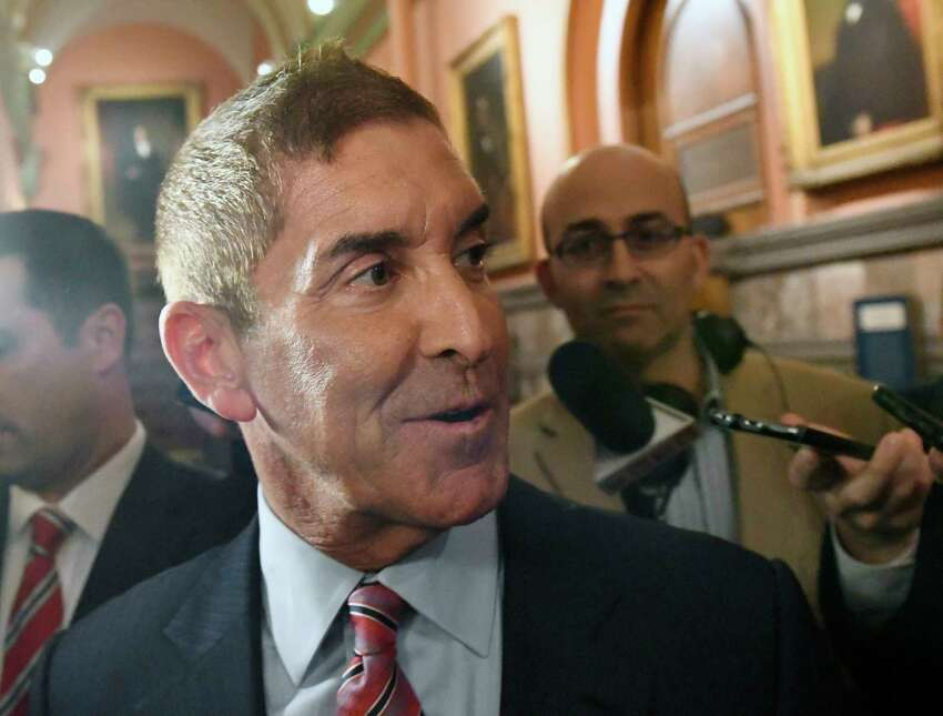 Senate Independent Democratic Conference Leader Jeffrey Klein, D-Bronx, leaves after a meeting with New York Gov. Andrew Cuomo at the state Capitol on Tuesday, June 20, 2017, in Albany, N.Y. (AP Photo/Hans Pennink)