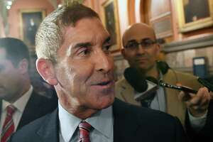Senate Independent Democratic Conference Leader Jeffrey Klein, D-Bronx, leaves after a meeting with New York Gov. Andrew Cuomo at the state Capitol on Tuesday, June 20, 2017, in Albany, N.Y. (AP Photo/Hans Pennink) ORG XMIT: NYHP118