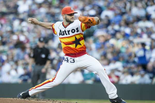 SEATTLE, WA - JUNE 24: Starter Lance McCullers Jr. #43 of the Houston Astros delivers a pitch during the first inning of a game against the Seattle Mariners at Safeco Field on June 24, 2017 in Seattle, Washington. (Photo by Stephen Brashear/Getty Images)