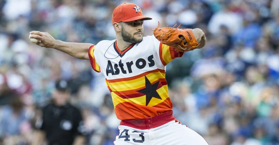 SEATTLE, WA - JUNE 24: Starter Lance McCullers Jr. #43 of the Houston Astros delivers a pitch during the first inning of a game against the Seattle Mariners at Safeco Field on June 24, 2017 in Seattle, Washington. (Photo by Stephen Brashear/Getty Images) Photo: Stephen Brashear/Getty Images