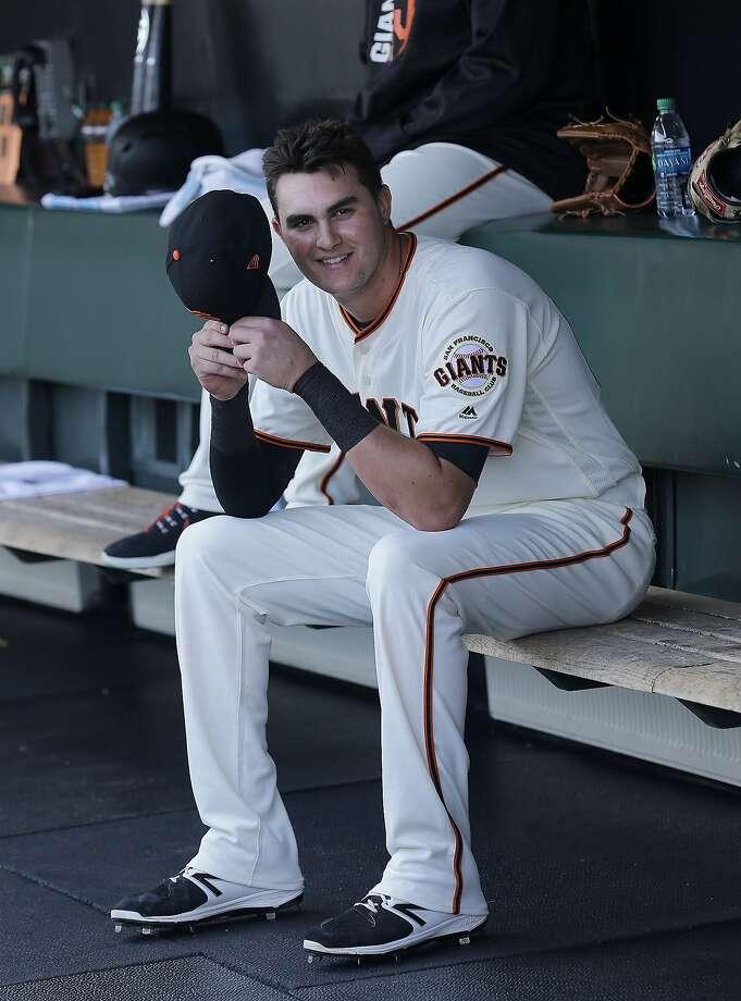 Giants third baseman Ryder Jones (0-for-16) said he wants hits and RBIs to help the team. Photo: Jeff Chiu, Associated Press