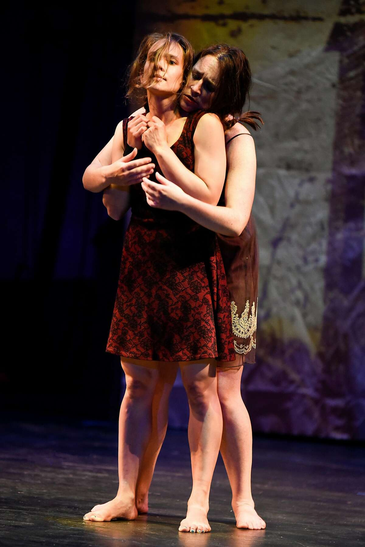 Sonja Dale (front) as Anna II and soprano Laura Bohn as Anna I in