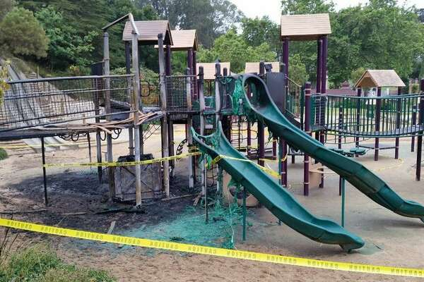 Vandals damaged a play structure at Koret Children's Playground in Golden Gate Park over the weekend, forcing city officials to close the playground.