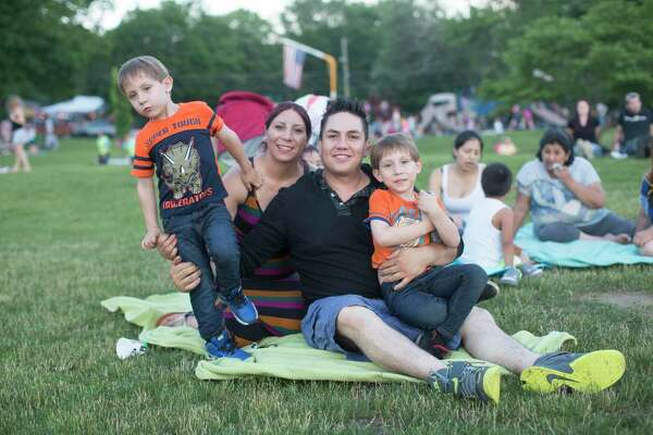 Many area residents gathered at the Danbury Town Park where fireworks were launched at Candlewood Lake the night of Saturday, June 24.