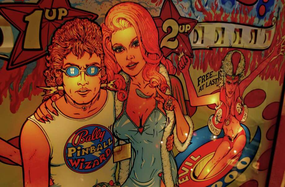 Artwork on the game Pinball Wizard at the Pacific Pinball Museum in Alameda. Photo: Michael Macor / Michael Macor / The Chronicle 2012 / ONLINE_YES
