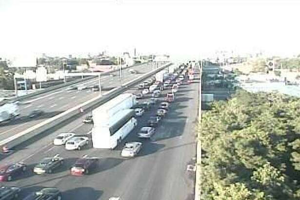The Connecticut Department of Transportation web site is reporting a tractor trailer accident on I-95 northbound, between exits 27 and 27A in Bridgeport. Image from Connecticut Department of Transportation traffic cameras.