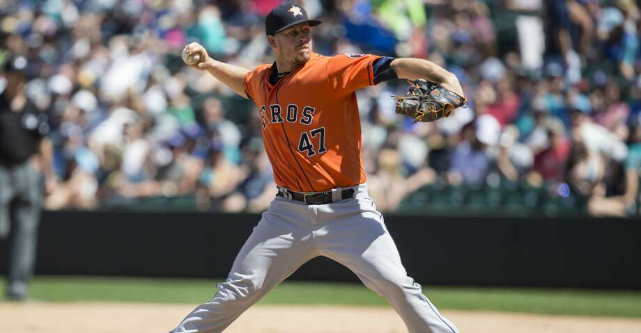 SEATTLE, WA - JUNE 25: Reliever Chris Devenski #47 of the Houston Astros delivers a pitch during the fifth inning of a game  against the Seattle Mariners at Safeco Field on June 25, 2017 in Seattle, Washington. (Photo by Stephen Brashear/Getty Images) Photo: Stephen Brashear/Getty Images