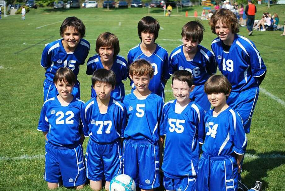 The OGRCC U-11 Thunder are, back row, left to right: Inaki Mendive, Thomas Binaghi, Lucas Rivero, Gabriel Zsigmond and Aiden Connerty. Front row are: Ale MacLean, Kohei Oshima, Clem Carter, Zach Friedman and J.J. Hartwell. Photo: Contributed Photo / Greenwich Time Contributed