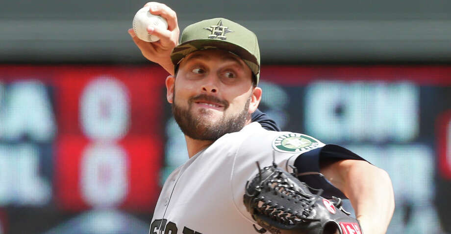 In anticipation of Brad Peacock's return from paternity leave on Tuesday, the Astros optioned Jordan Jankowski (pictured) to Class AAA after Sunday's 8-2 win against the Mariners at Safeco Field. Photo: Jim Mone/Associated Press