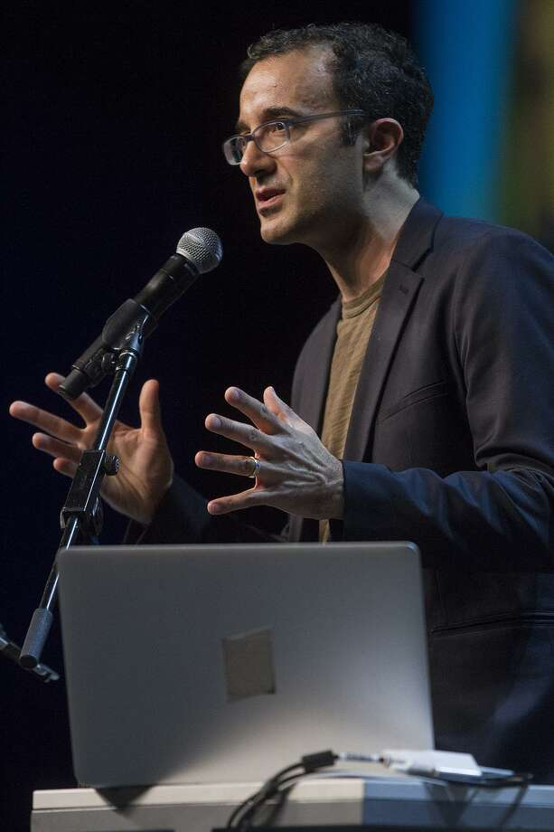 "Jad Abumrad, opening keynote speaker at the ISTE (International Society for Technology in Education) conference, Sunday, June 25, 2017 at the Henry B. Gonzalez Convention Center. Abumrad created and hosts the public radio programs ""Radiolab"" and ""More Perfect."" Photo: Alma E. Hernandez, For The San Antonio Express News / Alma E. Hernandez / For The San Antonio Express News"