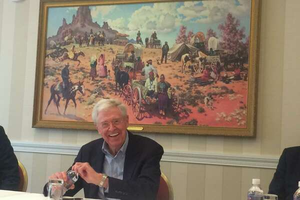 Charles Koch, the billionaire industrialist, participates in his network's seminar in Colorado Springs.