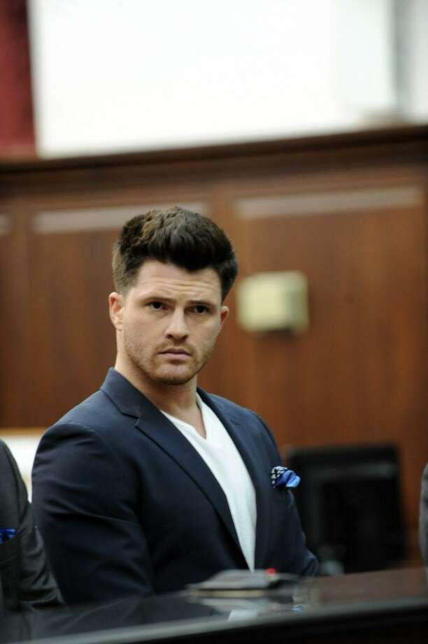 James Rackover, who has been charged in connection with the stabbing death of Joey Comunale of Stamford, Conn, was arraigned in Criminal Court in New York on Friday, Nov. 18, 2016.  Photo: Sam Costanza / NY Daily News Via Getty Images / 2016/Daily News, L.P. (New York)  Sam Costanza/NY Daily News via Getty Images