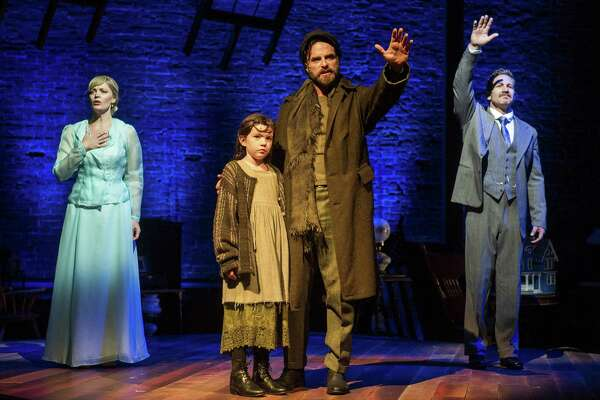 """From left, Elizabeth Stanley, Frances Evans, J. Anthony Crane and David Harris in """"Ragtime"""" at Barrington Stage Company. (BSC publicity photo by Daniel Rader.)"""
