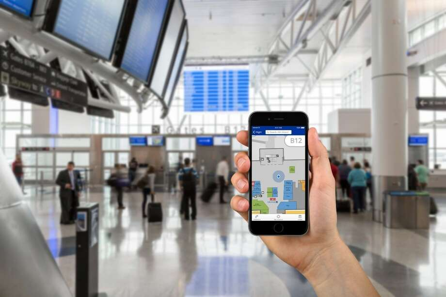 Bush Intercontinental and Hobby airports are launching a new way-finding application this month. Using fly2houston.com, travelers can get turn-by-turn directions on their smartphone. Photo provided by the Houston Airport System. / This image must be used within the context of the news release it accompanied. Request permission from issuer for other uses.