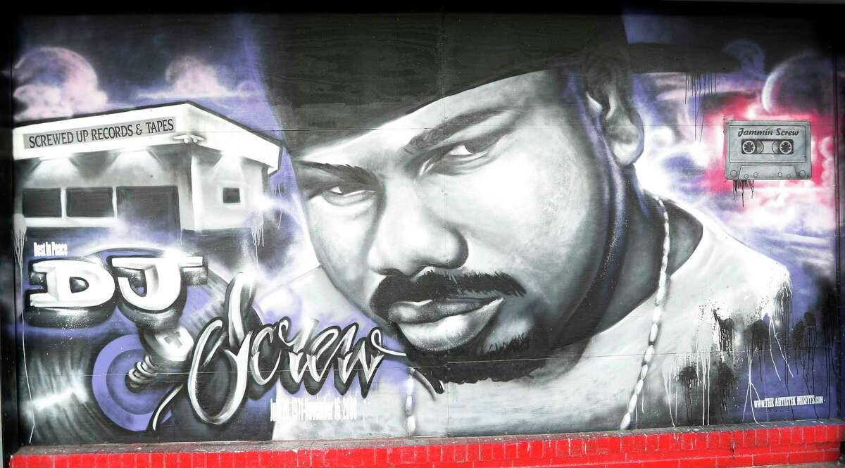 PHOTOS: A look at influential people in Houston Hip Hop DJ Screw, as seen in 2016 on a poster at Screwed Up Records and Tapes, 3538 W Fuqua.