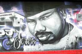 at Screwed Up Records and Tapes, at 3538 W Fuqua, Friday, Sept. 2, 2016 in Houston.    Robert Earl Davis aka DJ Screw did only a few interviews during his short lifetime, he died in 2000, and also wasn't often photographed.  He opened up Screwed Up Records and Tapes, in the late 1990s.