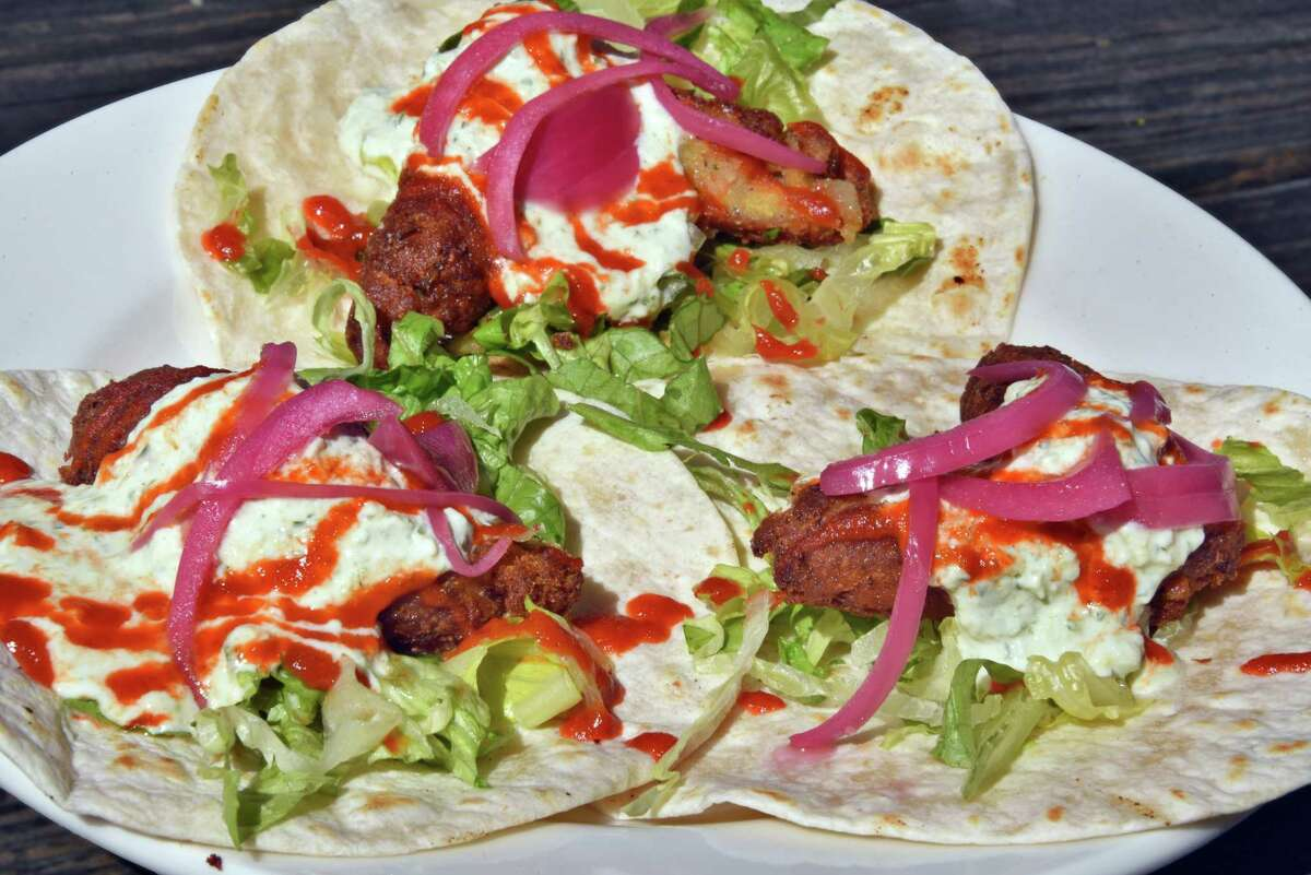 Falafel tacos at Comfort Kitchen in the Saratoga Marketplace on Broadway Friday May 12, 2017 in Saratoga Springs, NY.