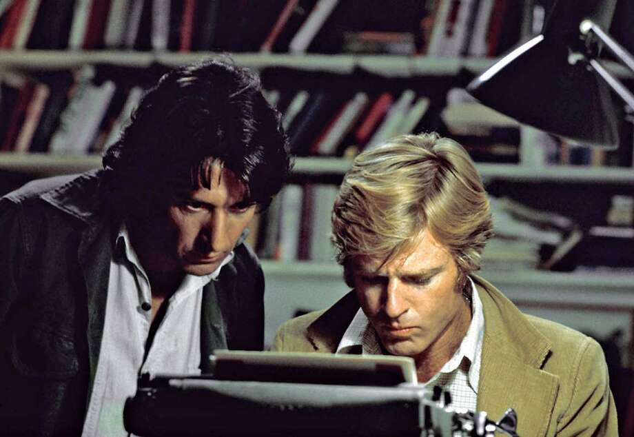 "Dustin Hoffman and Robert Redford star in ""All the President's Men."" Photo: AP, BE"