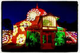 The Conservatory of Flowers now features an Illuminate-sponsored Obscura Digital light show every evening at sundown through Oct. 21.