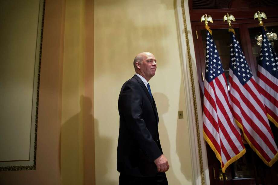 Representative Greg Gianforte, a Republican from Montana, arrives to a swearing in ceremony in Washington, D.C., U.S., on Wednesday, June 21, 2017. Gianforte's victory was a setback for Democrats who hoped to capitalize on Trump's low approval ratings, unpopular Republican health-care legislation, and the misdemeanor assault charge. Photographer: Eric Thayer/Bloomberg Photo: Eric Thayer / Bloomberg / © 2017 Bloomberg Finance LP