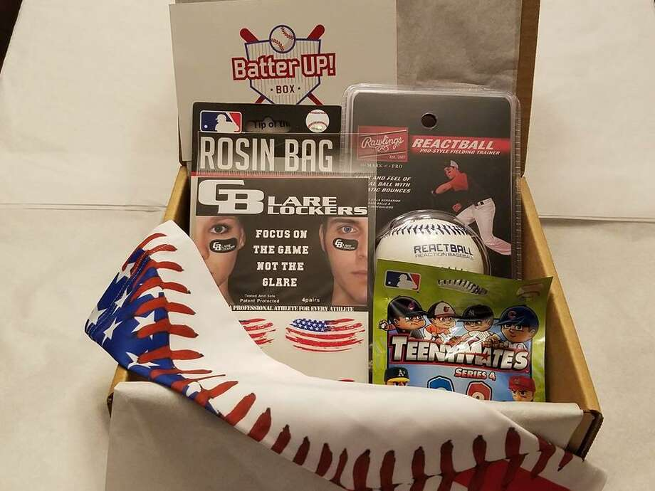 Milford resident Joseph Bereski has started Sports Box Co., a business that sells subscription boxes of sports gear for kids, like the Batter Box. The company also sells a basketball and hockey version. Photo: Contributed Photo / Connecticut Post