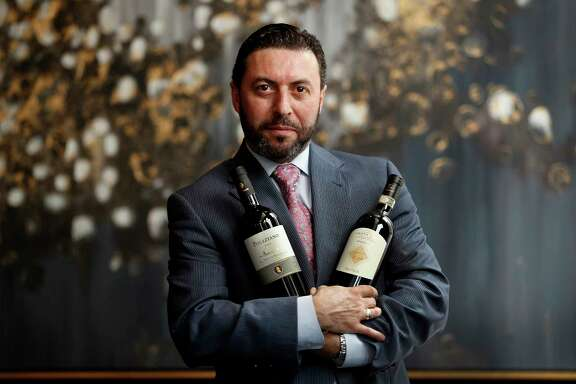 Vincenzo Montecuollo touts two of his favorite wines at Potente: the 2010 Poliziano Asinone and the 2010 Marchesi Antinori La Braccesca Santa Pia Riserva.
