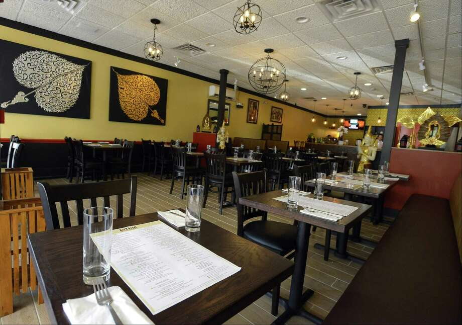A view of the interior of the new InThai Restaurant in Stamford, Conn. Photo: Matthew Brown / Hearst Connecticut Media / Stamford Advocate