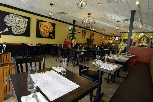 A view of the interior of the new InThai Restaurant in Stamford, Conn.