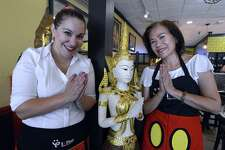 Erin Daily and owner Phenny Sunyaluxruechai are photographed on Thursday, June 22, 2017, in the new InThai Restaurant, at 83 Atlantic St., in downtown Stamford, Conn.