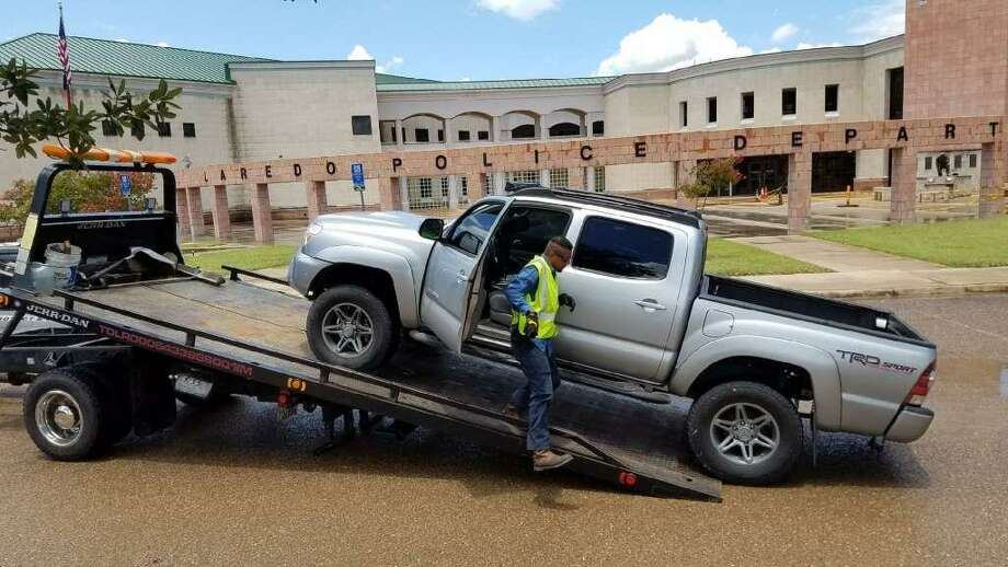 When police checked the Toyota Tacoma the suspect arrived in, police found two juveniles inside the vehicle allegedly rolling papers. Photo: César G. Rodriguez, Laredo Morning Times