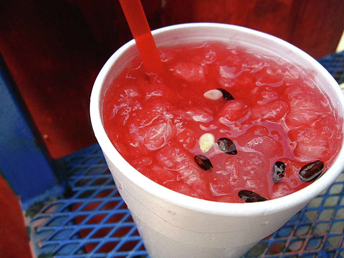 Watermelon agua fresca from Los Valles.