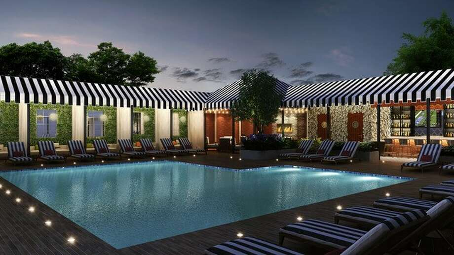 An Artist S Rendering Of The Pool At New Hotel Zaza Memorial City That Will Open