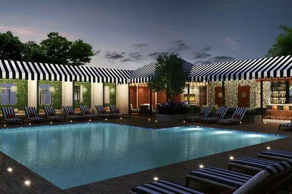An artist's rendering of the pool at Hotel ZaZa.