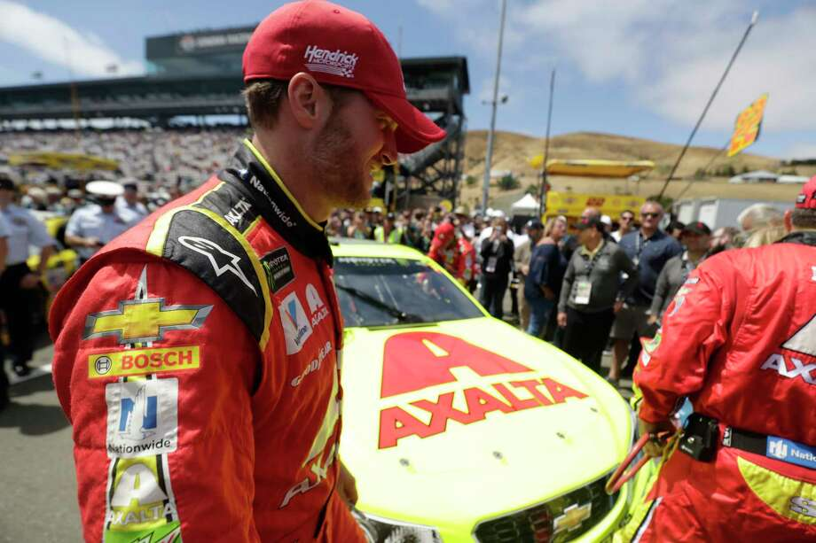 Monster Energy NASCAR Cup Series driver Dale Earnhardt Jr. (88), before the Toyota Savemart 350 at the Sonoma Raceway on Sunday, June 25, 2017 in Sonoma, CA.  This was his last race here before retirement. Photo: Paul Kuroda, Freelance / online_yes