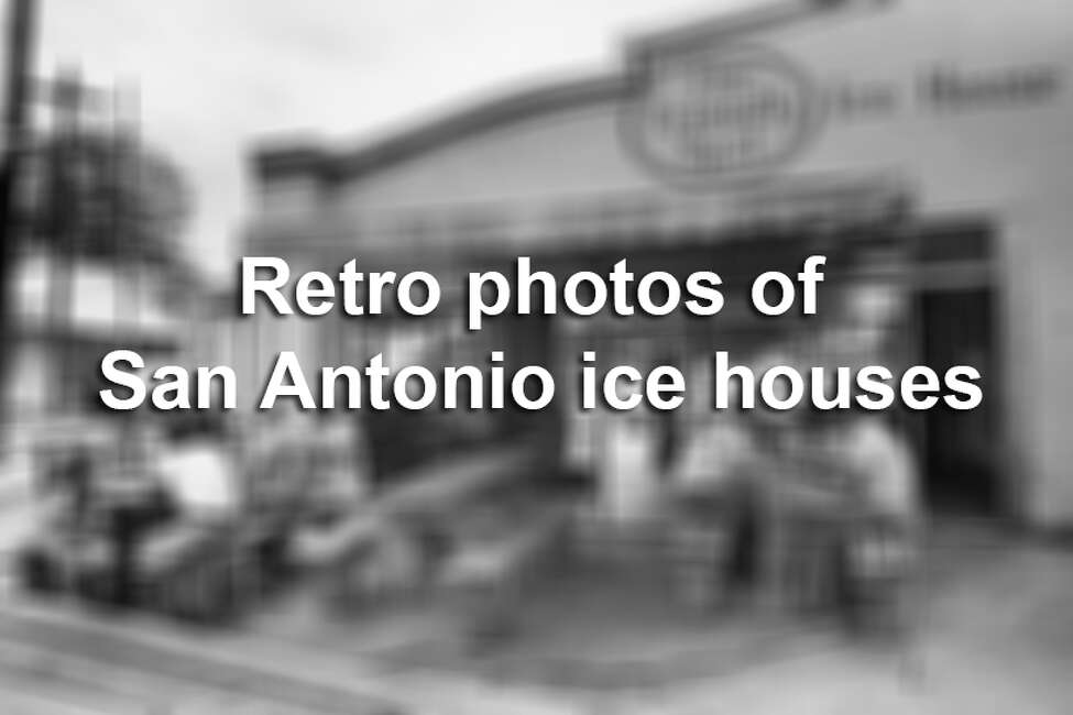 Retro photos of San Antonio ice houses