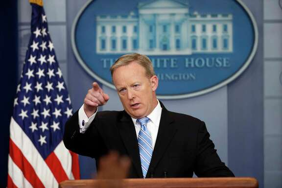 Press secretary Sean Spicer says the White House will vary the presentation at news conferences.