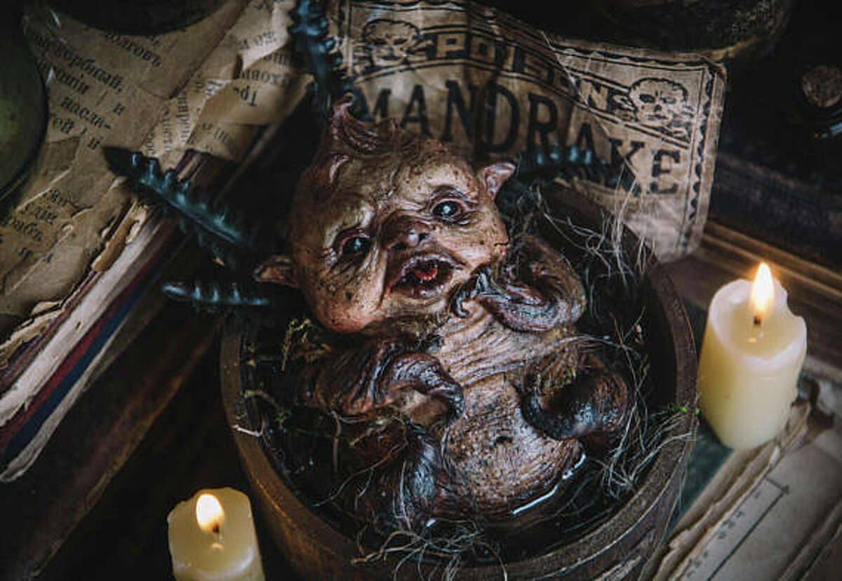 For those of you who don't value sleep, here's a sculpture of a baby Mandrake you can put on your bedside table. Nighty-night!