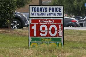 Gas prices at a Walmart near Eckert Road were at $1.90 with a Walmart card, and $1.93 without one. In San Antonio, the average price for a gallon of gas is at $1.99, according to a report by GasBuddy released Monday.