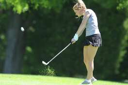 Catherine McEvoy hits an approach shot during the Greenwich Women's Town Golf Tournament at Griffith E. Harris Golf Course in Greenwich, Conn. Monday, June 26, 2017. Catherine McEvoy won the townwide division, Laurabeth Rodgers and Irene Lok tied the senior division, and Yanna Saari won the super-senior division.