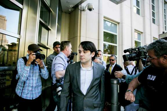 Martin Shkreli, the former hedge fund manager, heads into federal court for the beginning of his securities fraud trial in New York, June 26, 2017. (Sam Hodgson/The New York Times)